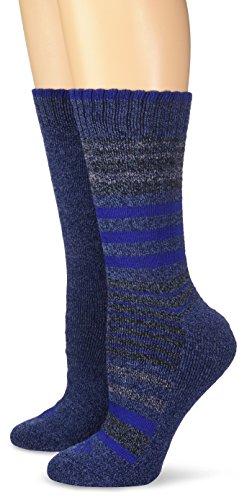 Columbia Socks Men (Columbia Women's Moisture Control 2 Pack Stripe, Navy,)