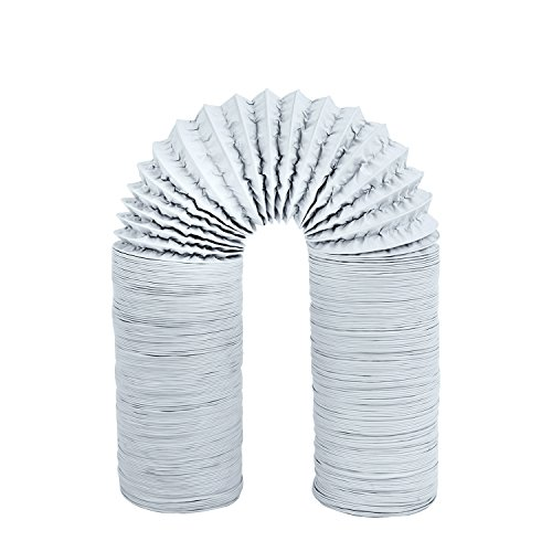 Hon&Guan 5 inch Air Duct - 16 FT Long, Flexible Ducting HVAC Ventilation Air Hose For Grow Tents, Dryer Rooms,Kitchen (5 Inch Duct Y)