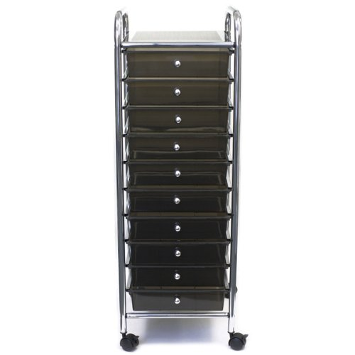 Home Center Rolling Cart with 10 Drawers - Smoke 1 pcs sku# 633588MA by Advantus