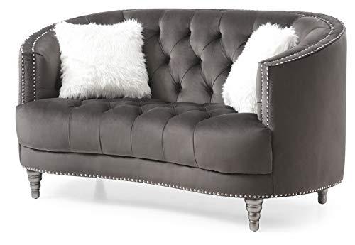 Fine Amazon Com Glory Furniture Dania Gray Loveseat 36 H X Theyellowbook Wood Chair Design Ideas Theyellowbookinfo