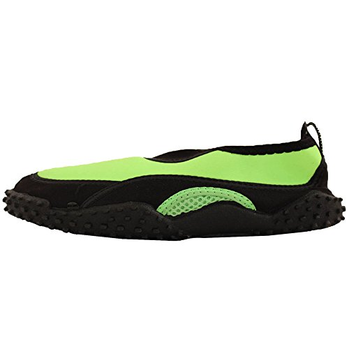 Lime Shoes Aqua Slip wave Water Socks Thick on Tread Green Women's 8HzSzqwR