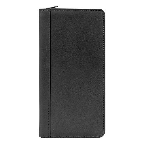 Millennium Leather International Document/Passport Case Black Florentine Napa Leather
