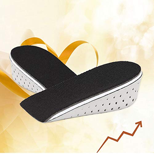 Ethan_13 Men Women Height Increase Insoles Massaging Invisible Foot Pad Shoes Feet Care