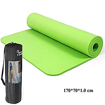 qubabobo Yoga Mat 10 mm antideslizante ejercicio mat 70 cm ...