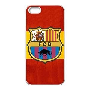 Funda iPhone 4 4s caja del teléfono celular Funda Blanco Deportes-fc barcalona L4T7BW