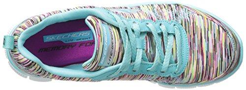 Skechers Flex Appeal - Pretty City - Zapatillas de Deporte Para Mujer Turquoise