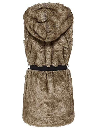 Only Fur Donna Faux Beige Scuro Waistcoat 15164255 Giacchetto HnqPrtx8wH