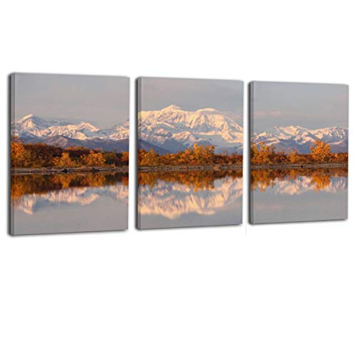 Paulino Reflection of Alaskan Range Modern Giclee Canvas Prints Artwork Contemporary Pictures On Canvas Wall Art for Home Decorations Wall Decor 16