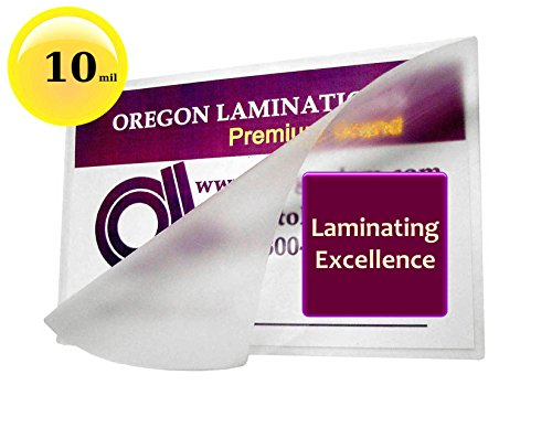 Oregon Laminations Premium 10 Mil Letter size Hot Laminating Pouches 9 x 11-1/2 (Pack of 500) Clear by Oregon Lamination Premium