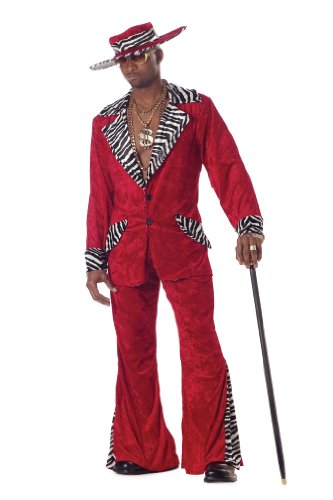 Pimp Costume (California Costumes Men's Pimp,Red,Large Costume)