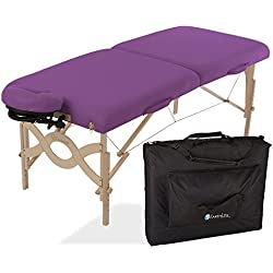 "EARTHLITE Avalon Premium Portable Massage Table Package - Incl. Carry Case, Flex-Rest Self-Adjusting Face Cradle & Form-Fit Memory Cushion (30""x73"")"
