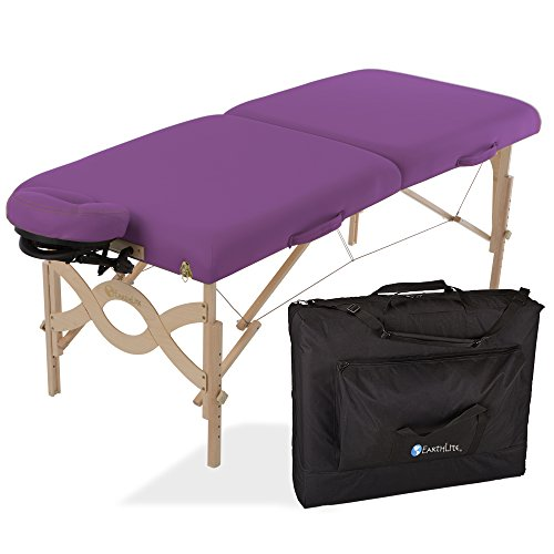 EARTHLITE Avalon XD Massage Therapy Table Package Flat - Premium Value & Style, Professional Massage Table Portable incl. Flex-Rest Face Cradle and Carry Case by Earthlite