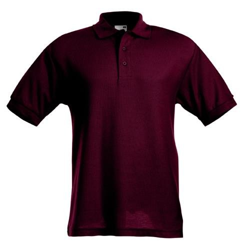 Polo Shirt 65 35 Fruit of the Loom viele Farben S-XXL Burgundy,XL