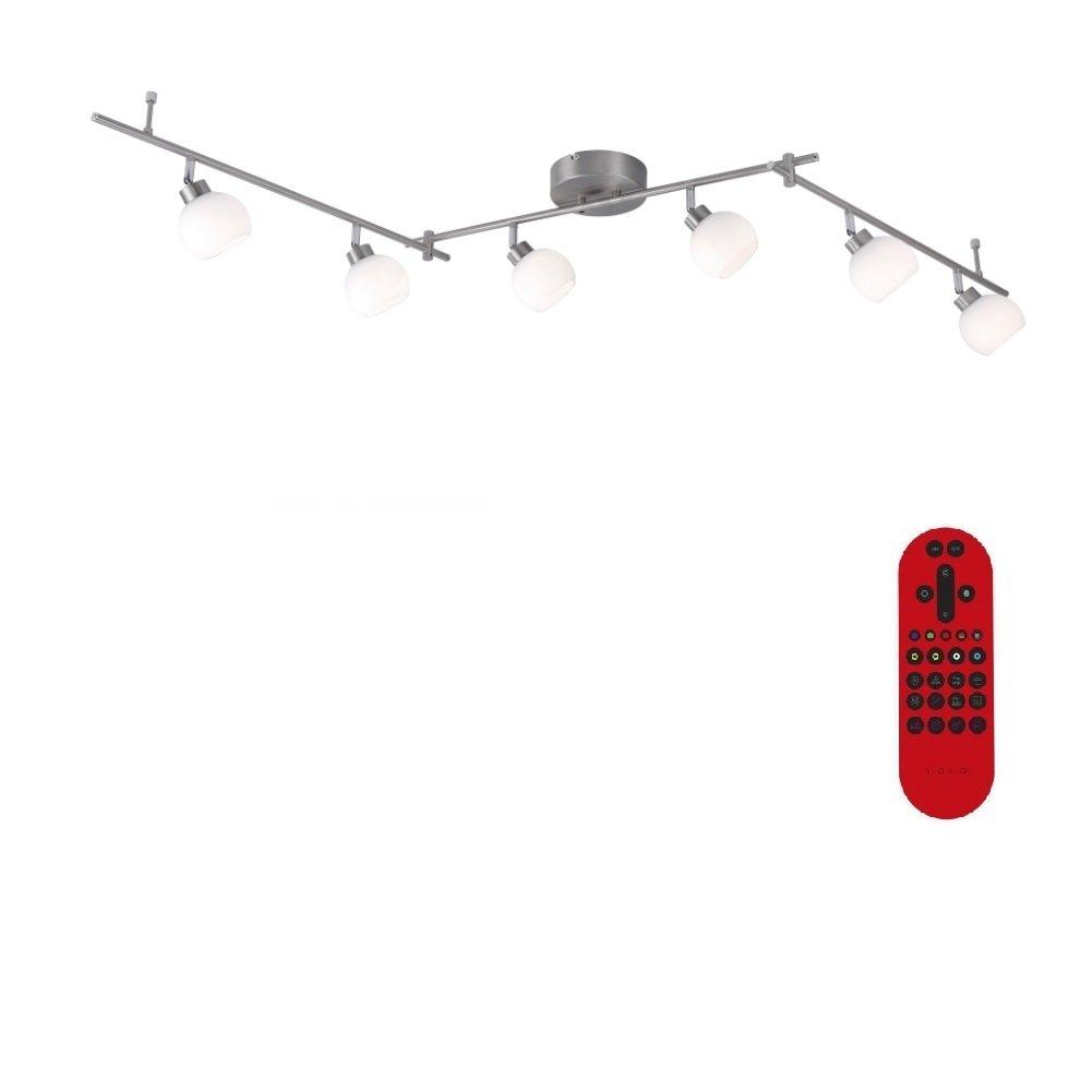 Deckenbalken Lola Lotta LED 6x3,5W | Deckenleuchte RGB, CCT und Fernbedienung | Deckenlampe inklusive LED-Taschenlampe | Leuchte modern LHG