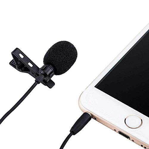 JJC SGM-28 Omnidirectional Collar Microphone For Smartphone 3.5mm 1/4 mic Jack Adapter for Android Mobile Phone