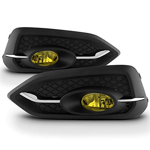 2015 Honda Civic 2 Door Coupe - ACANII - For 2014-2015 Honda Civic 2-door Coupe Yellow Fog Lights Bumper Lamps w/Switch+Bulb Assembly Driver & Passenger