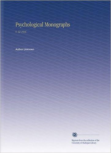 Gratis downloads af ebook Psychological Monographs: V. 22 1916 PDF iBook PDB