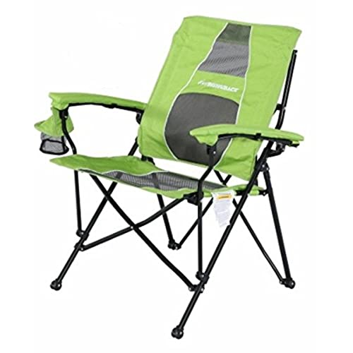 High Quality STRONGBACK Elite Folding Camping Chair With Lumbar Support, Lime Green