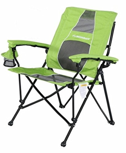 (STRONGBACK Elite Folding Camping Chair with Lumbar Support, Lime)