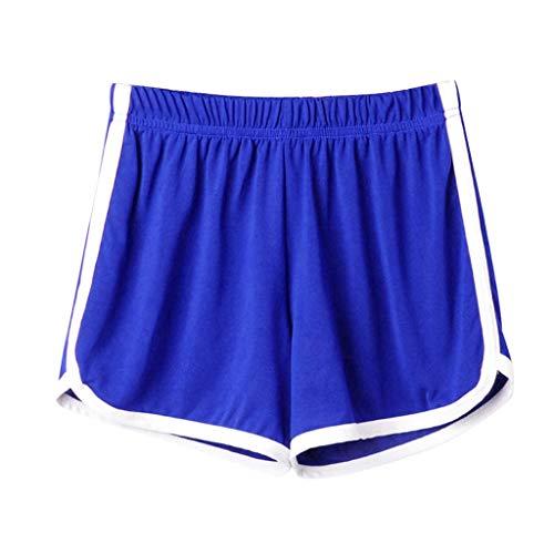 Duseedik Fashion Women's Sport Shorts Lady Summer Heart Print Super Hot Shorts Beach Short Pants Blue ()