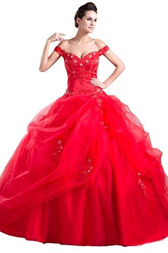 JAEDEN - Vestido - sujetador bandeau - Sin mangas - para mujer Rosso