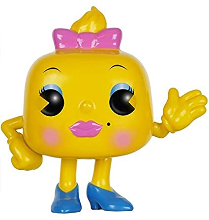Ms. Pac-Man (Pac-Man) Funko POP! Vinyl Figure by Pac Man: Amazon ...