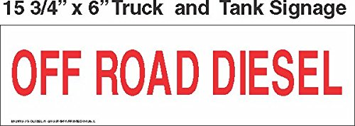 GC Labels-BS21619, Truck And Tank Signs 16x6 Off Road Diesel, PACK OF 4 LABELS