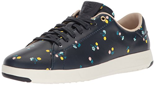 clearance big discount buy cheap official site Cole Haan Women's Grandpro Tennis Leather Lace Ox Fashion Sneaker Navy Dotted Floral new arrival G1npEgGy4H