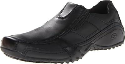 Skechers for Work Men's Rockland-Hooper Slip Resistant Slip-On Shoe