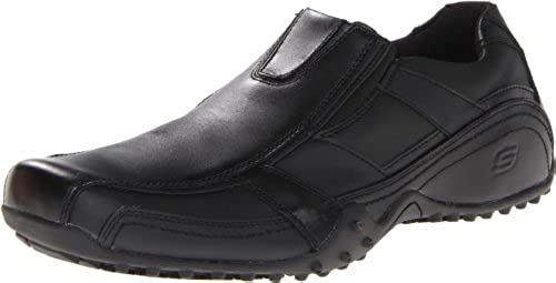 05. Skechers for Work Men's Rockland-Hooper Slip Resistant Slip-On Shoe