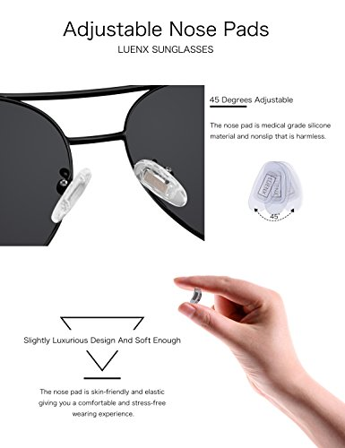 89a881d016 Jual LUENX Men Aviator Sunglasses Polarized Women - UV 400 with case ...