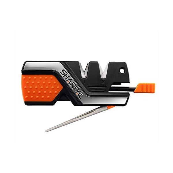 Sharpal 101N 6-In-1 Pocket Knife Sharpener & Survival Tool, with Fire Starter & Whistle