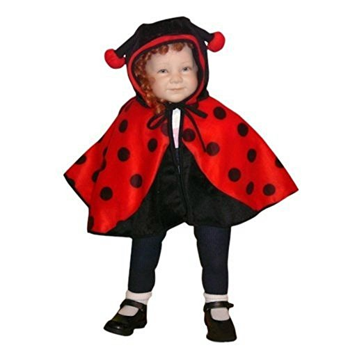 Fantasy World Ladybug Halloween Costume f. Babies and Toddlers, One Size, An38 (Homemade Ladybug Costume Toddler)