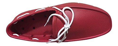 Tucket Footwear Mens Giller Boat Shoes Rosso / Bianco