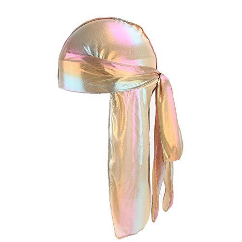 OutTop(TM) Unisex Bandana Hat for Men/Women Silk Polyester Durag Rag Tail Pirate Cap Headwrap Headwear Gift (F)