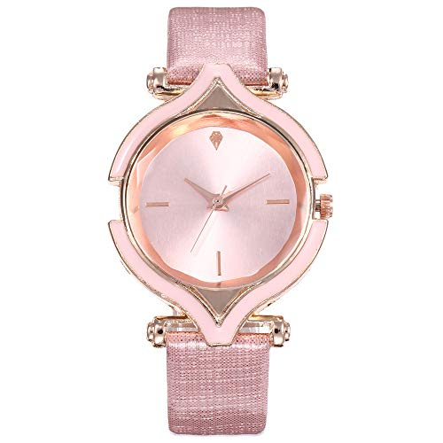 Hot Sale!Women Analog Watch Strap Leather Simple Dial Wrist Watches Jewelry Gift (Pink) (Jewelry Dial Pink)
