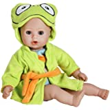 """Adora Bathtime Baby - Frog, 13"""" Washable Soft Body Play Doll for Children 12 months & up"""