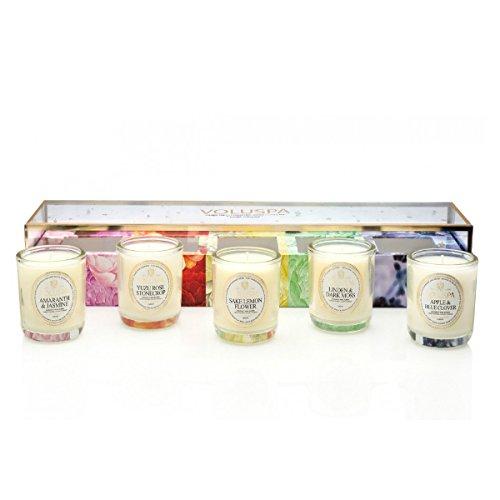 Voluspa Maison Jardin Collection Votive 5 Candle Gift Set New 2015 ()