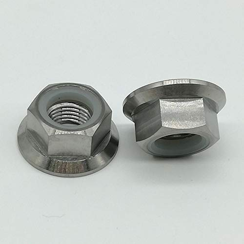 (Nuts Titanium Lightweight Bicycle Motor Repair Replace Part Screws Cycle Motor Bolts Sprocket Flange Lock Nut M14x1.5mm Pitch 2pc/lot)