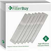 6 FilterBuy Hoover Type C Vacuum Bags, Part # 4010077C. Designed by FilterBuy to fit Hoover Upright Vacuum Cleaners.