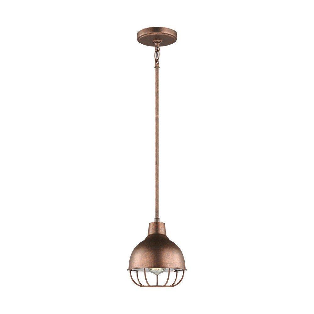Sea Gull Lighting 6146501-44 Jeyne Pendant, 1-Light 60 Watts, Weathered Copper