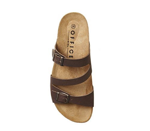 Toe Sandals Leather Office Open Bounty Women's Brown zqqw0T
