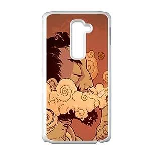 Rasta Smoking Marijuana LG G2 Cell Phone Case White Delicate gift AVS_604356