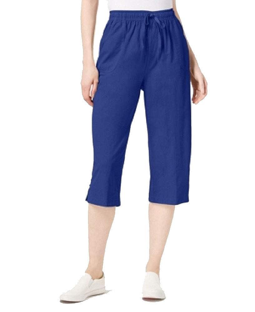 Karen Scott Cotton High-Rise Capri Pants