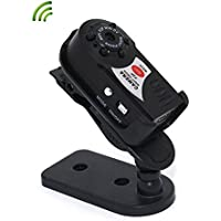 Ztcolife WiFi Mini Surveillance Camera, P2P HD Portable IP Camera with Night Vision for Garage,Office,Garden and Home Security, Small Hidden Camera Support iOS/Android / iPad /PC Remote View