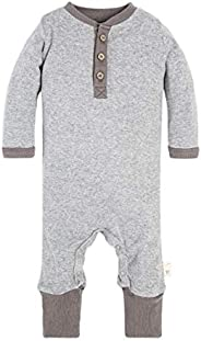 Burt's Bees Baby-Boys Romper Jumpsuit, 100% Organic Cotton One-Piece Cove