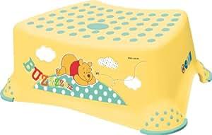 Plataforma taburete Taburete para el patrón antideslizante infantil Winnie the Pooh amarillo