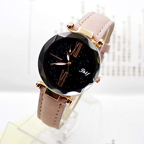 Pocciol 2019 Luxury Watch Womens Casual Watch with Leather Strap Band Analog Quartz Starry Sky Wristwatch for Ladies (Pink) by Pocciol Cheap-Nice Watch (Image #3)
