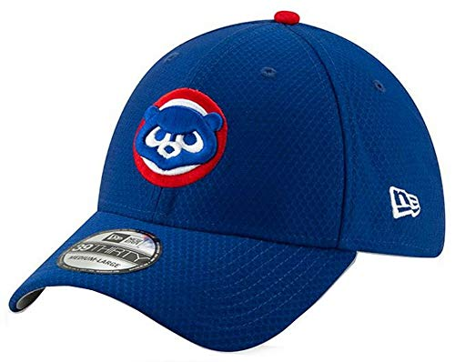 New Era 2019 MLB Chicago Cubs Bat Practice Hat Cap GM 39Thirty 3930 (L/XL) Royal Blue