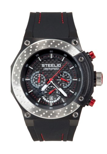 Steelio Men's Überspeed Retrograde Chronograph (Steel-Red)